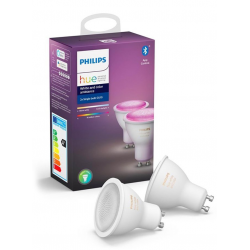 Philips Hue Color LED spot GU10 2-pack BT - Philips