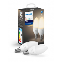 Philips Hue White LED Pære E14 Kerte 2-pack BT - Philips
