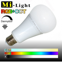Mi•Light  RGB+CCT, E27, 12W, 1100LM, 2,4GHz