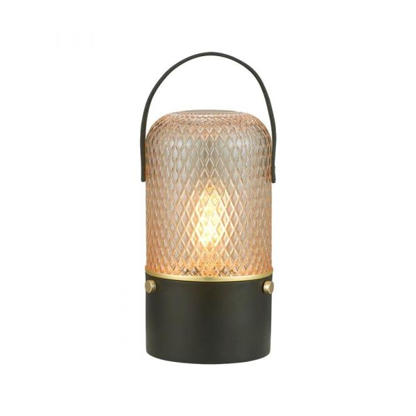 Amber Bordlampe E27 Smoke - Halo Design